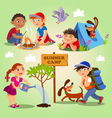Kids Summer camp vector image vector image