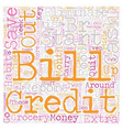 Kill Bills text background wordcloud concept vector image vector image