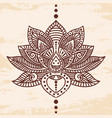lotus flower tattoo vector image vector image