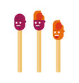 match stick cartoon mascot characters collection vector image