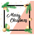 merry christmas greeting card in square frames and vector image