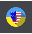 modern ukraine shield background Eps 10 vector image