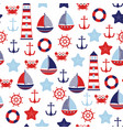 nautical bamarine pattern vector image