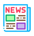 news newspaper icon outline vector image vector image