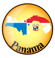 orange button with the image maps of Panama vector image