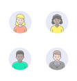 people avatars vector image
