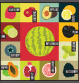 pop art retro grunge style fruit poster vector image vector image
