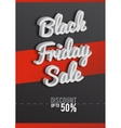 Poster Black Friday Black-and-white background vector image vector image
