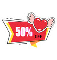 promotion poster for sale 50 percent off price vector image vector image
