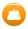 purse retro icon orange vector image vector image