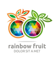 rainbow fruit orange food nutrition symbol vector image vector image