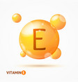 realistic detailed 3d vitamin e background card vector image vector image