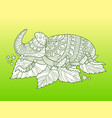 rhinoceros beetle insect fashion vector image vector image
