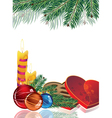 Romantic Christmas background vector image vector image