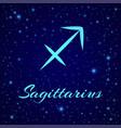 sagittarius sign on a night sky vector image vector image