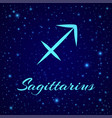 sagittarius zodiac sign on a night sky vector image vector image