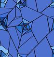 seamless pattern geometric rose flowers vector image