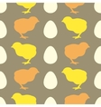 Seamless pattern with chick vector image vector image