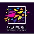 simple white square frame with colorful s vector image vector image