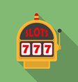 Slot Machine icon Modern Flat style with a long vector image vector image