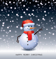 Snowman - vector image vector image