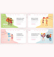 south american carnival landing page templates set