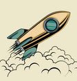 start up launcher rocket vector image vector image