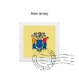 State of New Jersey flag postage stamp vector image vector image