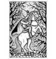 the headless horseman engraved fantasy vector image vector image