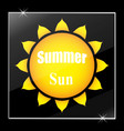 the sun under glass stylish vector image vector image