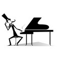 thinking pianist or composer and piano vector image vector image