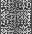 traditional arabic silver color seamless pattern vector image vector image