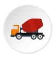 truck concrete mixer icon circle vector image vector image