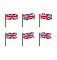 uk flag icon set british national flag icons vector image vector image