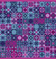 vintage bright seamless intricate tile pattern for vector image