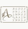 vintage decorative font vector image vector image