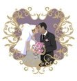 Wedding couple 09 vector image vector image