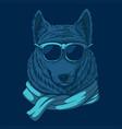 wolf eyeglasses vector image