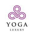 yoga luxury logo vector image