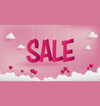 sale banner of valentines conception vector image
