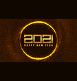 2021 new year golden banner halftone background vector image vector image