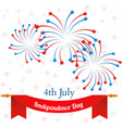 4th july american independence day celebration vector image
