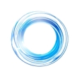 abstract blue circle Banner Logo design template vector image vector image