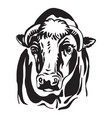 abstract portrait bull black vector image vector image