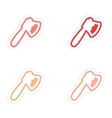 assembly stickers bloody ax on a white background vector image vector image
