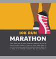 athlete runner feet running or walking on road vector image vector image