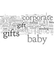babasket corporate gift vector image vector image