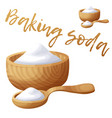 baking soda cartoon icon isolated on white vector image vector image