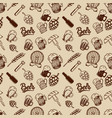 beer seamless pattern beer mugs bottles wheat vector image