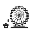 black ferris wheel with cash desk vector image